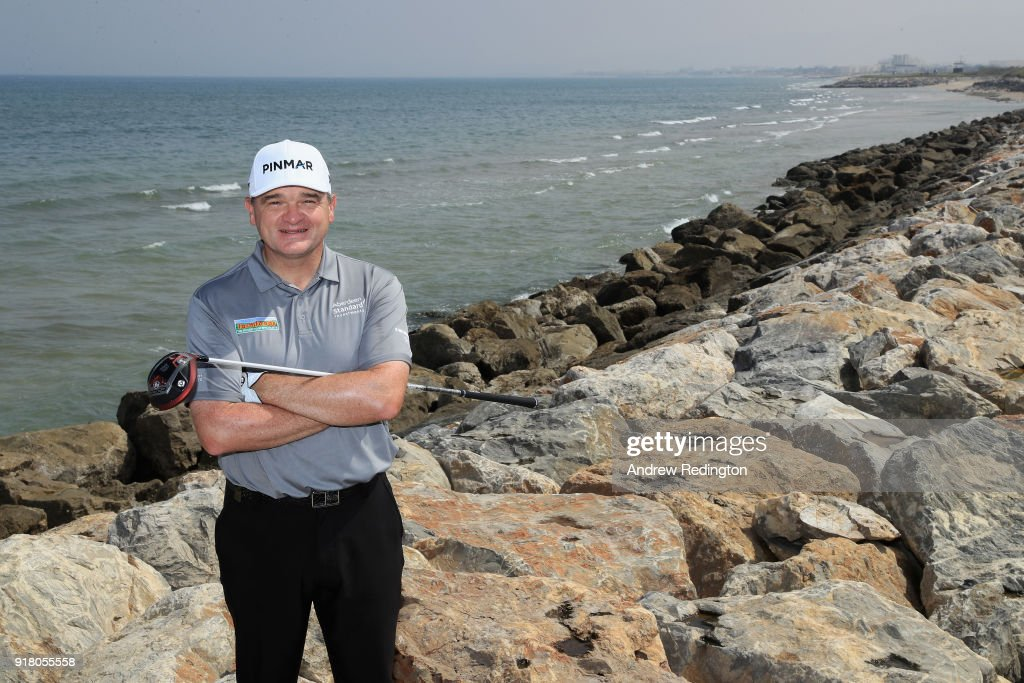 Paul Lawrie of Scotland poses for a portrait during the pro-am event prior to the NBO Oman Golf Classic on February 14, 2018 in Muscat, Oman.