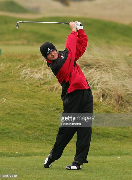 Paul Lawrie of Scotland, the 1999 Open Champion pictured during a practice round on the Carnoustie Links on March 14, 2007 in Carnoustie, Scotland.