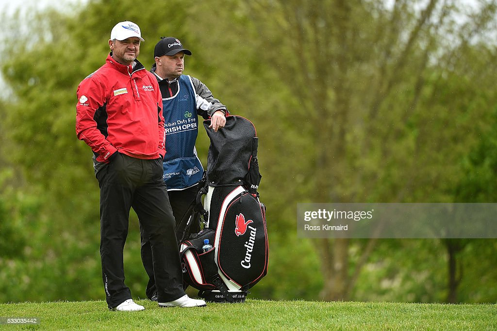 Paul Lawrie of Scotland waits on the 11th hole during the second round of the Dubai Duty Free Irish Open Hosted by the Rory Foundation at The K Club on May 20, 2016 in Straffan, Ireland.