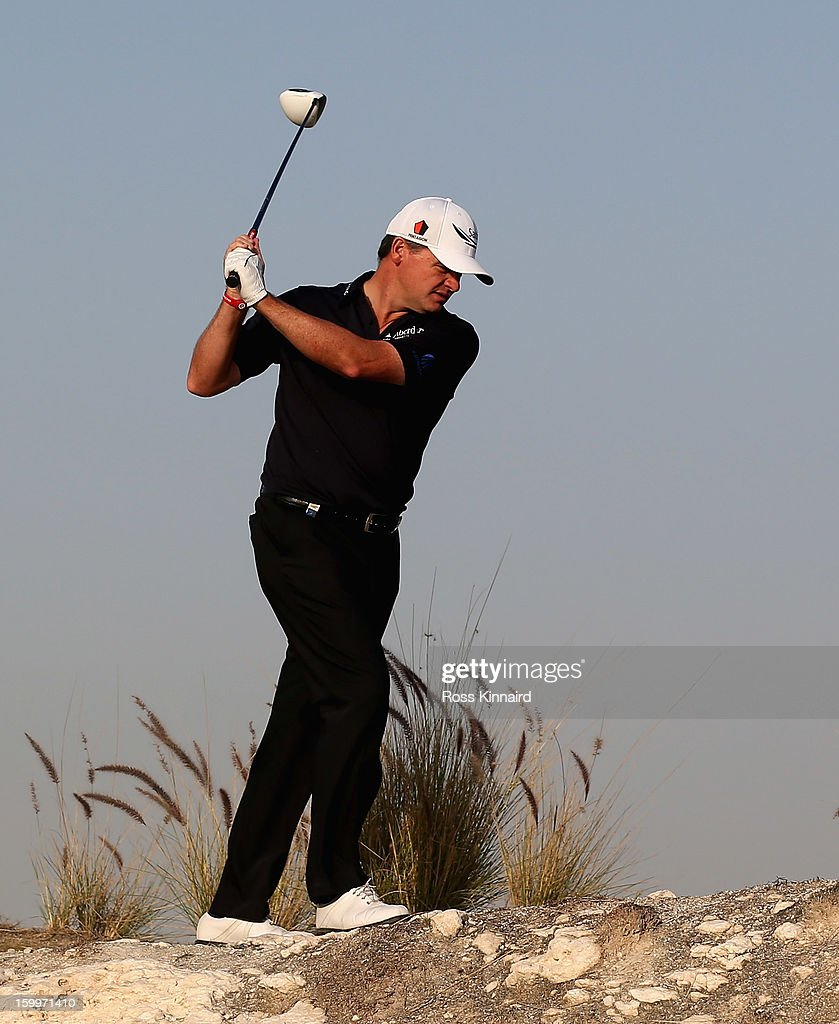 Paul Lawrie of Scotland walks off of the 16th tee during the second round of the Commercial Bank Qatar Masters at The Doha Golf Club on January 24, 2013 in Doha, Qatar.