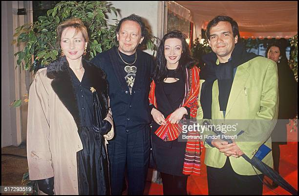 Paul Lederman and Didier Bourbon with their wives Etoiles Du Rire party