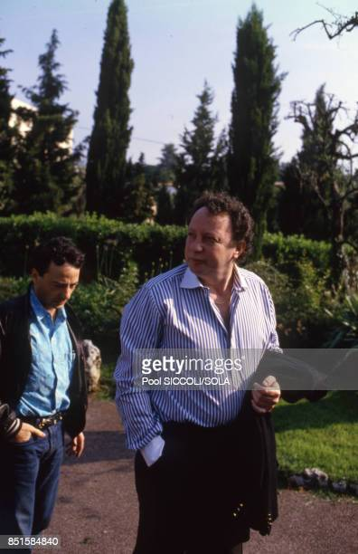 Paul Lederman arrivant à Grasse France le 20 juin 1986