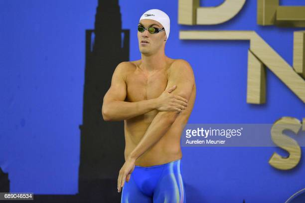 Paul Lemaire prepares to compete in the 100m Men's Individual Butterfly Final on day five of the French National Swimming Championships on May 27...