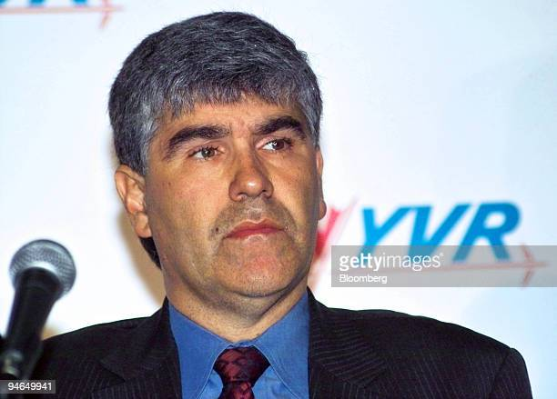 Paul Levy, vice president of Airport Operations at Vancouver International Airport , listens during a news conference in Vancouver, British Columbia,...