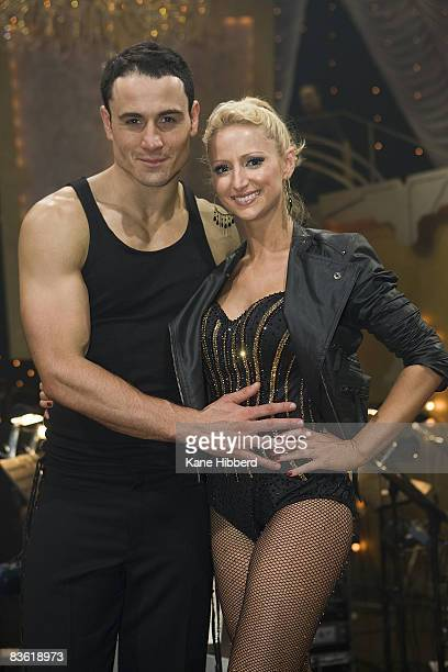 Paul Licuria and Eliza Campagna at the grand final event for Dancing With The Stars 2008 at the Channel Seven studios on November 8 2008 in Melbourne...
