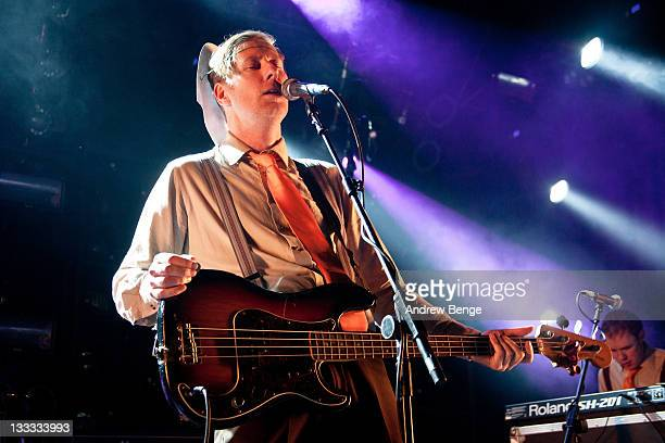 Paul Linehan of The Frank & Walters performs on stage at O2 Academy on November 17, 2011 in Manchester, United Kingdom.