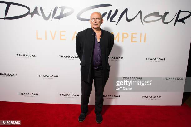 Paul Loasby arrives for the David Gilmour 'Live At Pompeii' premiere screening at Vue West End on September 5 2017 in London England
