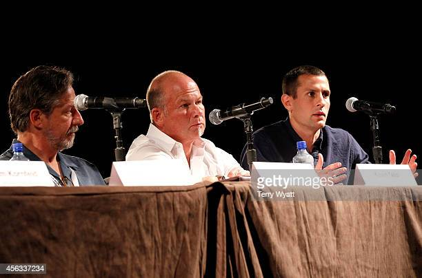 Paul Lohr of New Frontier Touring Kevin Neal of WME and Aaron Tannenbaum of CAA speak on the Agents Power Panel during Day 3 of the IEBA 2014...