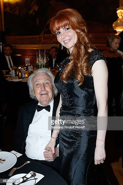 Paul Lombard and Anouchka Weiss attend the David Khayat Association 'AVEC' Gala Dinner Held at Versailles Castle on February 2 2015 in Versailles...