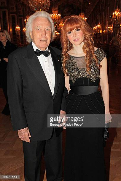 Paul Lombard and Anouchka Weiss attend the gala dinner of Professor David Khayat's association 'AVEC' at Chateau de Versailles on February 4 2013 in...