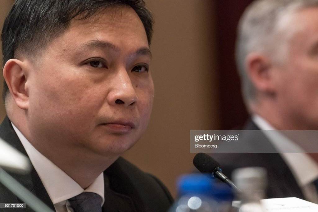 Paul Loo, chief customer and commercial officer of Cathay Pacific Airways Ltd., attends a news conference in Hong Kong, China, on Wednesday, March 14, 2018. Asias biggest international carrier reported a surprise profit in the second half of 2017, with a pick-up in cargo and premium-travel demand helping narrow the full-yearnet lossto HK$1.26 billion ($161 million).Photographer: Anthony Kwan/Bloomberg via Getty Images