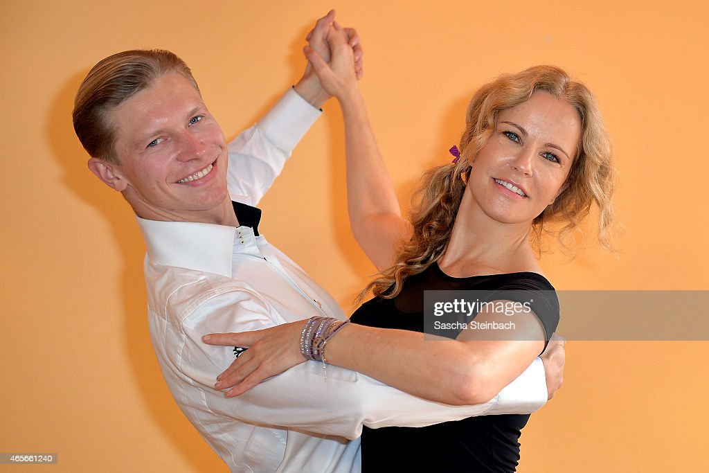 Paul Lorenz and Katja Burkard pose at a photo call for the television competition 'Let's Dance' on March 9, 2015 in Cologne, Germany. On March 13th, the show, in which celebrities compete at dancing, goes into its eighth round on the German network RTL.