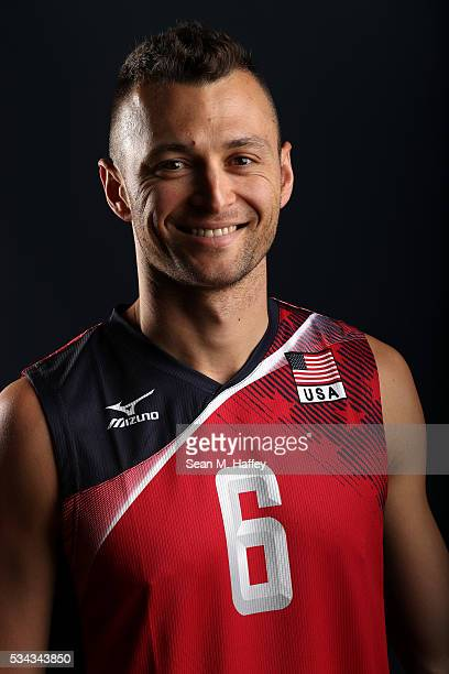 Paul Lotman of the USA men's indoor volleyball team poses for a portrait at the American Sports Center on May 24 2016 in Anaheim California