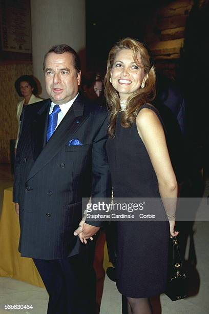 Paul Loup and Delphine Sulitzer at the dinner in the 'Carrousel du Louvre'