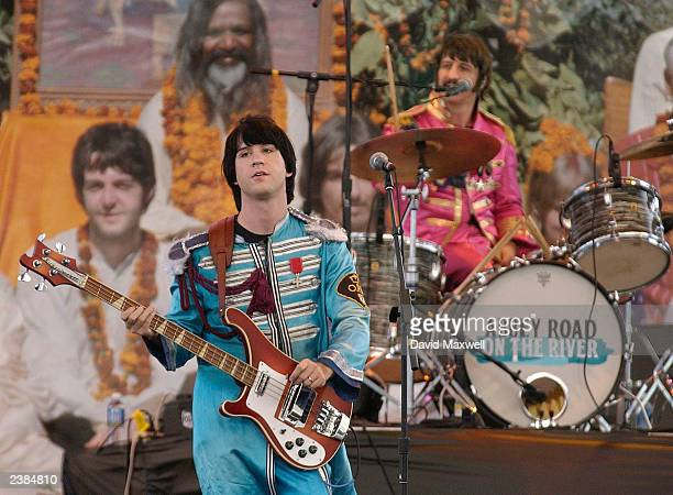 Paul Lynch as Paul and Jim Martin as Ringo of the Beatles tribute band British Export perform at the Abbey Road 'On the River' Beatlemania Festival...