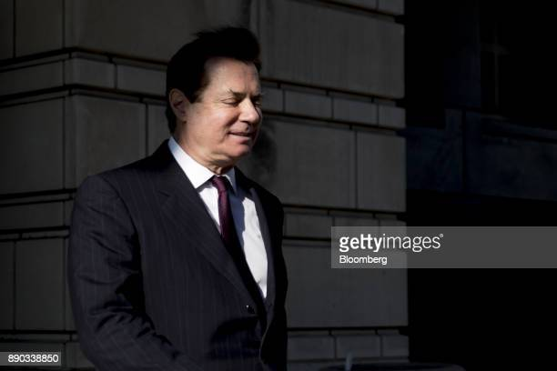 Paul Manafort former campaign manager for Donald Trump walks to his vehicle after a status conference at the US Courthouse in Washington DC US on...