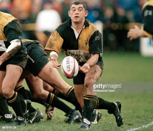 Paul Manley of Wakefield rugby union team in action circa 1996