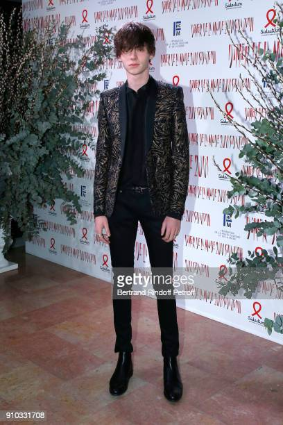 Paul Manniez attends the 16th Sidaction as part of Paris Fashion Week on January 25 2018 in Paris France