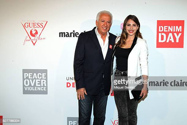 Paul Marciano and Andrea Duro attend the Guess Foundation Denim Day Charity at Salt Restaurant W Hotel on May 3 2016 in Barcelona Spain