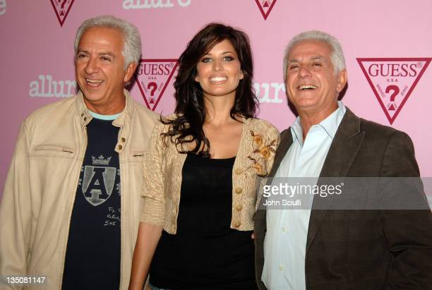 Paul Marciano Bree Condon and Maurice Marciano during Guess Fragrance Launch Party at The Mondrian Hotel at The Mondrian Hotel in West Hollywood...