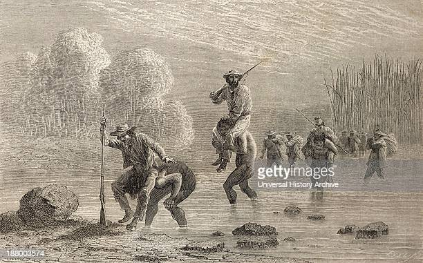 Paul Marcoy And His Expedition Being Carried Across A Swamp In Argentina By Chuncho Indians In 1874 Paul Marcoy 1815 To 1888 French Traveler And...