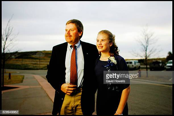 Paul Marrs and his daughter Kay 12 at a Purity Ball in Spearfish South Dakota Purity Balls have grown in popularity as a way to encourage young girls...