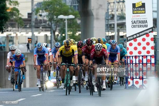 Paul Martens of Germany and Team Jumbo - Visma / Egan Bernal of Colombia and Team INEOS Yellow Leader Jersey / Jonathan Castroviejo of Spain and Team...