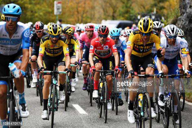 Paul Martens of Germany and Team Jumbo - Visma / Primoz Roglic of Slovenia and Team Jumbo - Visma Red Leader Jersey / Robert Gesink of The...
