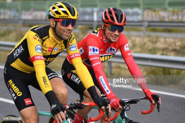 Paul Martens of Germany and Team Jumbo - Visma / Primoz Roglic of Slovenia and Team Jumbo - Visma Red Leader Jersey / during the 75th Tour of Spain...