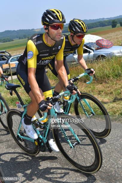Paul Martens of Germany and Team LottoNL - Jumbo / Steven Kruijswijk of The Netherlands and Team LottoNL - Jumbo / during the 105th Tour de France...