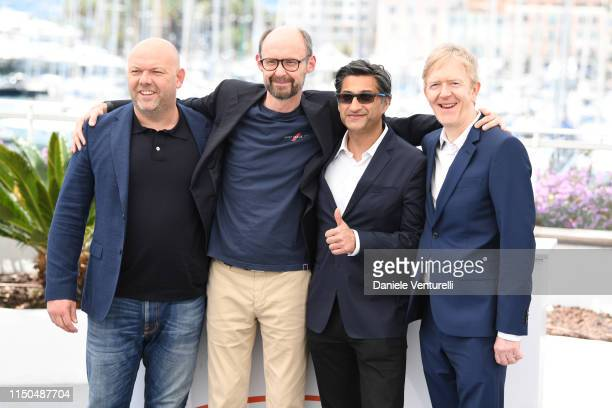 Paul Martin James GayRees Asif Kapadia and Chris King attend the photocall for Diego Maradona during the 72nd annual Cannes Film Festival on May 20...