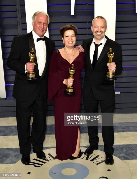 Paul Massey Nina Hartstone and John Warhurst attend the 2019 Vanity Fair Oscar Party hosted by Radhika Jones at Wallis Annenberg Center for the...