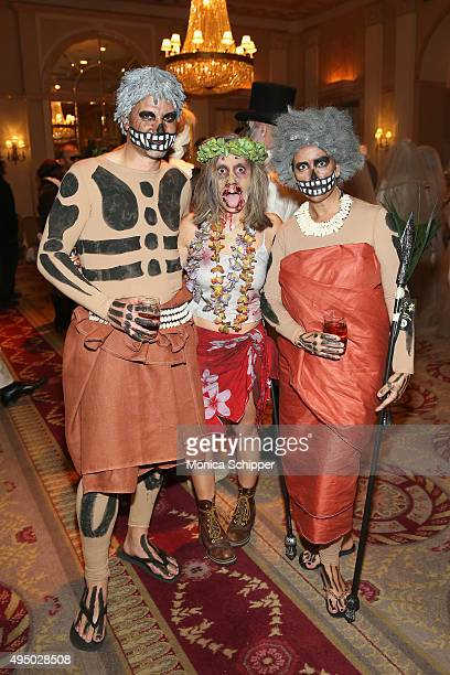 Paul Mathewson Marita Wolff and Linette Mathewson attend Bette Midler's annual Hulaween Party celebrating New York Restoration Project's 20th...