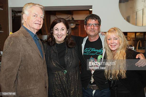 Paul Maxwell Rochelle Balin Michael Farhood and guest attend Rochelle Balin's Surprise Birthday Fiesta at a private residence on May 2 2009 in Toluca...