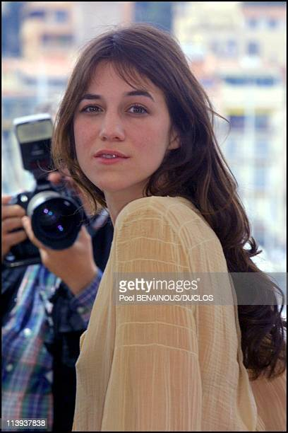 Paul Mc Cartney in the streets of Cannes In Cannes France On May 09 2001Charlotte Gainsbourg