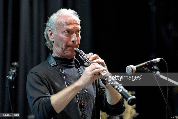 Paul McCandless soundchecking his oboe with Oregon at the Queen Elizabeth Hall, London on 12 November 2006 during the London Jazz Festival. Job:...