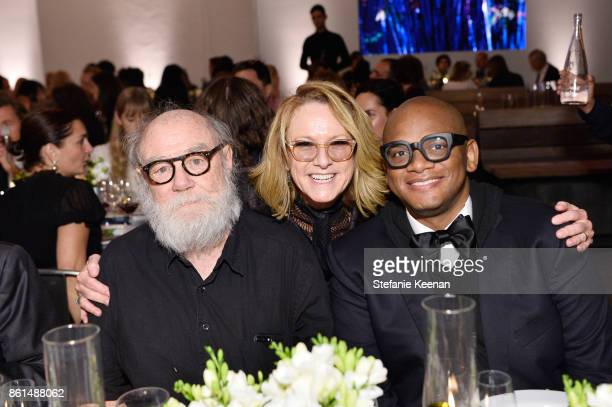 Paul McCarthy Ann Philbin and guest at the Hammer Museum 15th Annual Gala in the Garden with Generous Support from Bottega Veneta on October 14 2017...