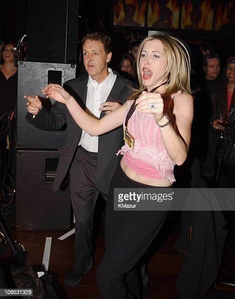 Paul McCartney and fiancee Heather Mills dancing during The Concert for New York City After Party at Hudson Hotel in New York City New York United...