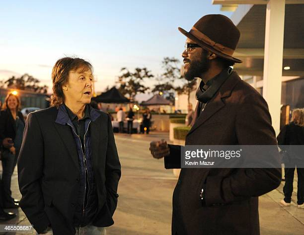 Paul McCartney and Gary Clark Jr attend The Night That Changed America A GRAMMY Salute To The Beatles at Los Angeles Convention Center on January 27...