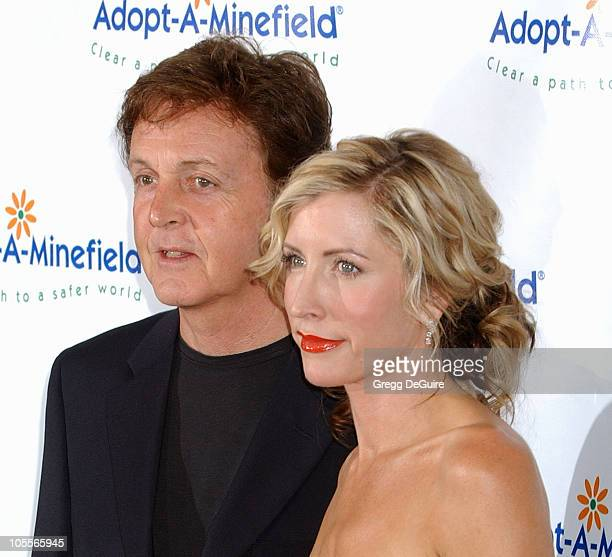 Paul McCartney and Heather Mills during 4th Annual AdoptAMinefield Gala at Century Plaza Hotel in Century City California United States