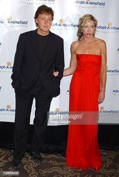 Paul McCartney and Heather Mills during 4th Annual Adopt-A-Minefield Gala at Century Plaza Hotel in Century City, California, United States.