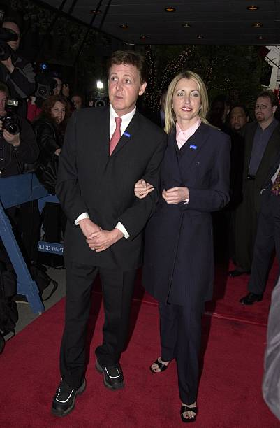 Paul McCartney And Heather Mills During Adopt A Minefield Benefit At