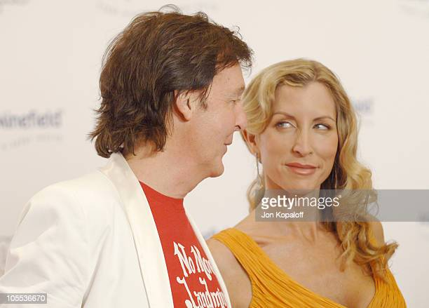 Paul McCartney and Heather Mills McCartney during Fifth Annual AdoptAMinefield at Beverly Hilton Hotel in Los Angeles California United States