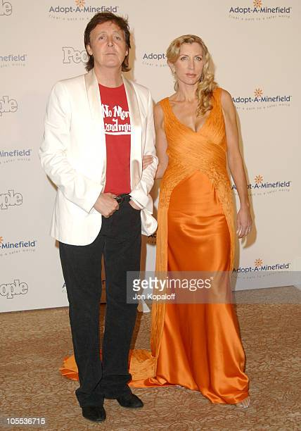 Paul McCartney and Heather Mills McCartney during Fifth Annual Adopt-A-Minefield at Beverly Hilton Hotel in Los Angeles, California, United States.