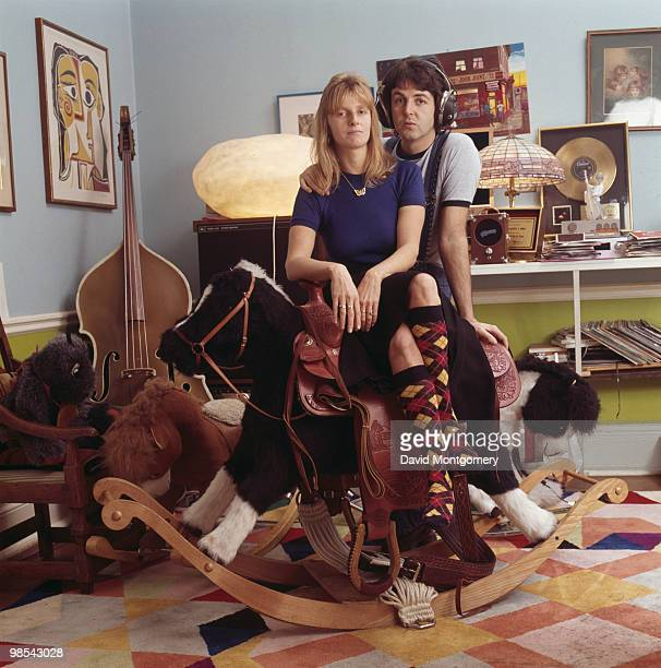 Paul McCartney and his wife Linda 4th April 1976