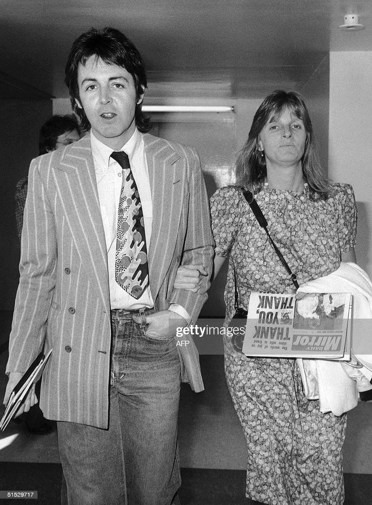 Paul McCartney And His Wife Linda Arrive At Londons Heathrow Airport 27 April 1977 Before