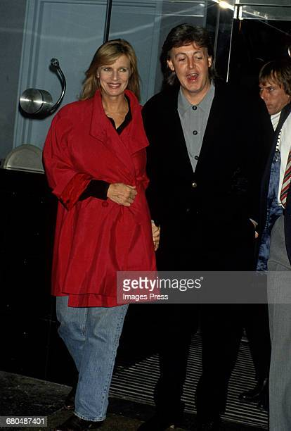 Paul McCartney and his wife Linda attend a Special Screening of the documentary Get Back at the Baronet Theater circa 1991 in New York City
