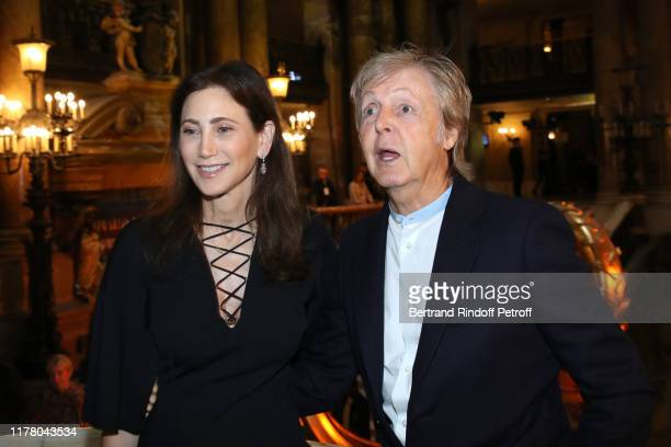 Paul McCartney and his wife Nancy Shevell attend the Stella McCartney Womenswear Spring/Summer 2020 show as part of Paris Fashion Week on September...