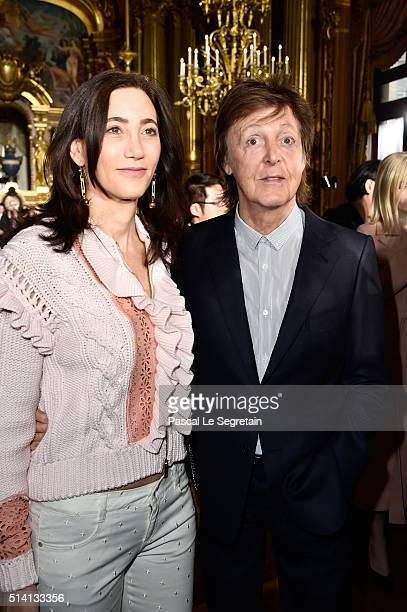 Paul McCartney And His Wife Nancy Shevell Attend The Stella Show As Part Of