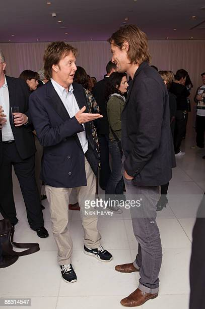 Paul McCartney and James Russo attend the launch party of publication 'Told The Art Of Story' at St Martins Lane Hotel on June 8 2009 in London...